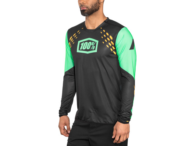 100% R-Core-X DH Maillot Hombre, black/cyan